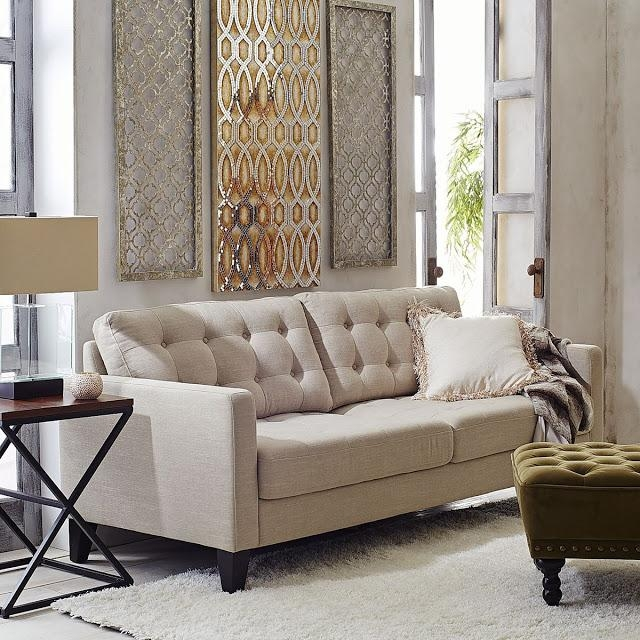 Lisa Loves John: The Low Down On The White Sofa In Pier 1 Carmen Sofas (Image 10 of 20)