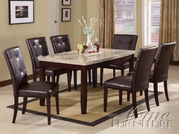 Lisbon Marble Top Dining Table Set With Marble Dining Room Tables Pertaining To Marble Dining Tables Sets (View 9 of 20)