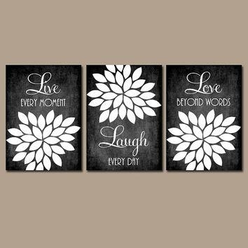 Live Laugh Love Wall Art Quote Chalkboard From Trm Design | Wall With Black And White Bathroom Wall Art (View 5 of 20)