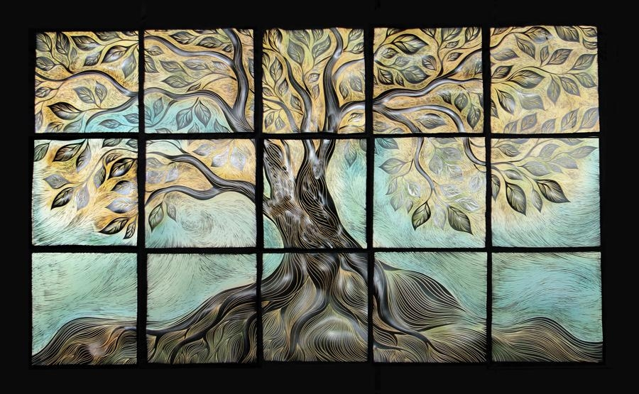 Live Oak, Ceramic Wall Tile Muralnatalie Blake | Natalie Blake For Live Oak Tree Wall Art (View 18 of 20)