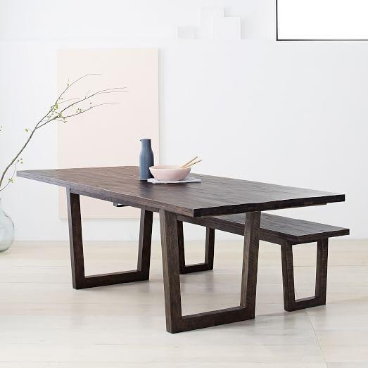 Logan Industrial Expandable Dining Table | West Elm In 2017 Logan Dining Tables (Image 16 of 20)