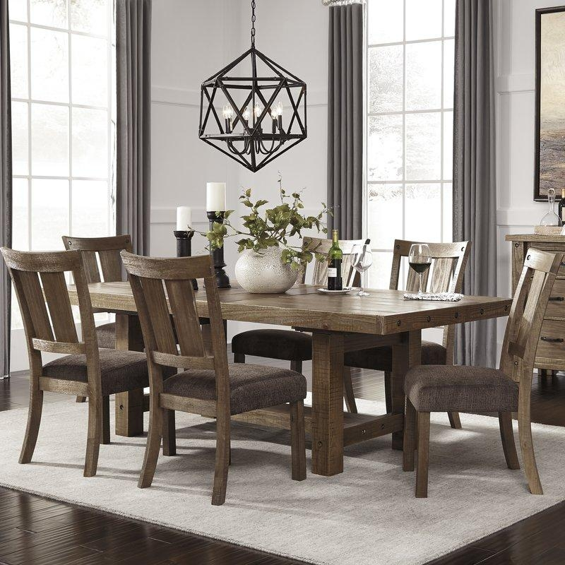 Loon Peak Etolin Counter Height Extendable Dining Table & Reviews Inside Recent Extendable Dining Room Tables And Chairs (Image 18 of 20)