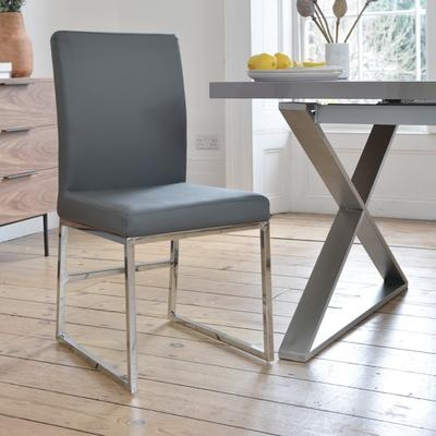 Loop Leg Dining Chair Grey – Dwell With Most Recently Released Grey Dining Chairs (Image 16 of 20)