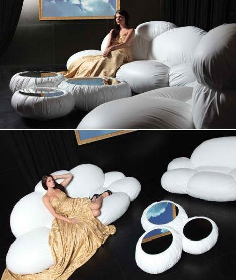 Lounge On A Cloud In Your Living Room With The Cirrus Sofa In Floating Cloud Couches (Image 15 of 20)