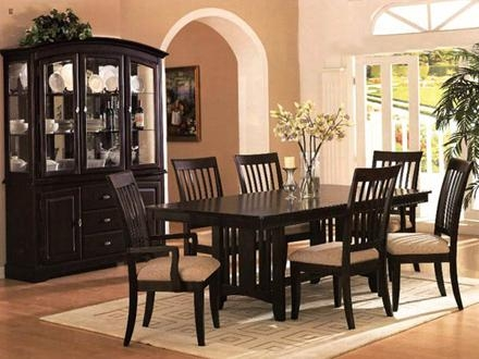 Lovable Dark Wood Dining Room Table Dark Wood Dining Table Chairs With 2018 Dark Wood Dining Tables And Chairs (View 11 of 20)
