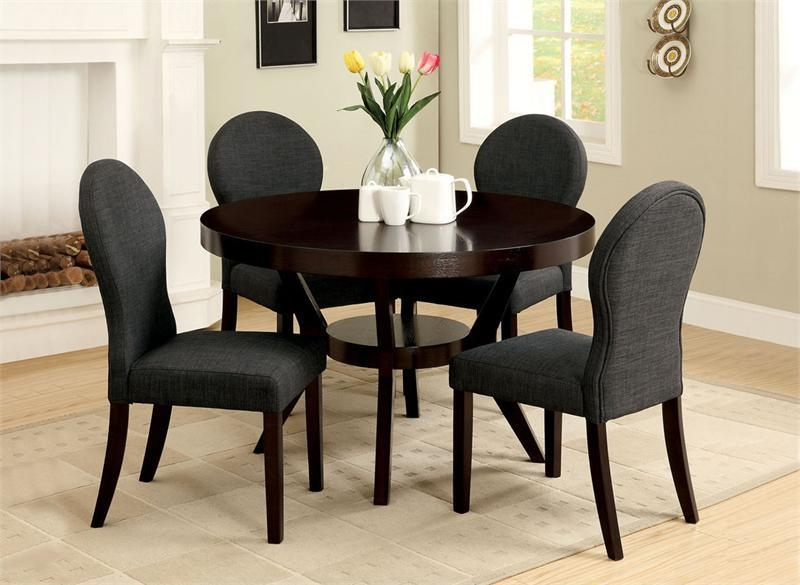 Lovable Dining Table And Chairs Set With Seconique Cameo 100Cm With Best And Newest Round Black Glass Dining Tables And 4 Chairs (Image 14 of 20)