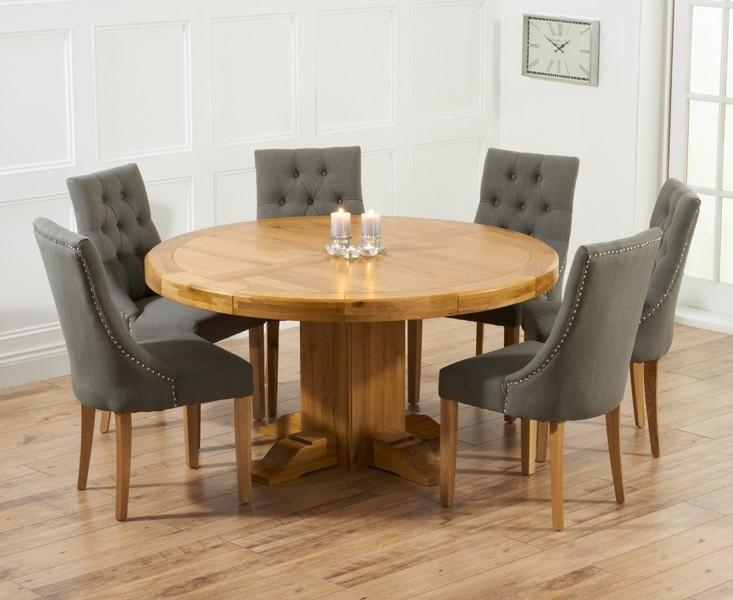 Lovable Round Dining Table Set Extendable Dining Table Sets Oak With Regard To Recent Round Extending Dining Tables Sets (Image 13 of 20)