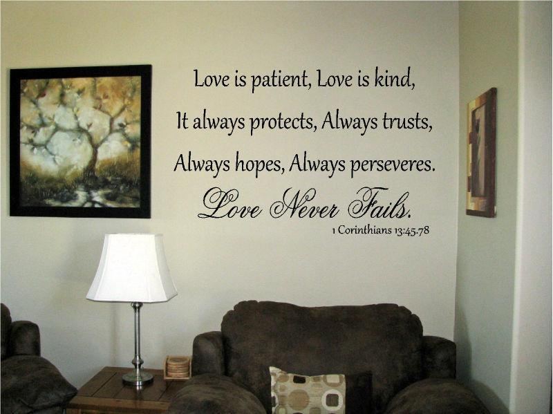 Love Is Patient Kind Protects Corinthians 13: (Image 12 of 20)