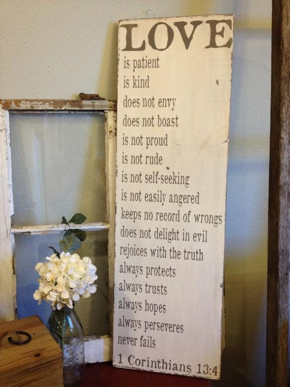 Love Is Patient Love Is Kind 1 Corinthians 13 Lovely Inside Love Is Patient Love Is Kind Wall Art (Image 13 of 20)