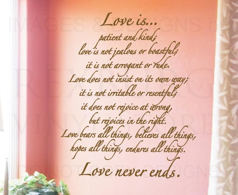 Love Is Patient Love Is Kind Quotes Like Success With Love Is Patient Love Is Kind Wall Art (Image 15 of 20)