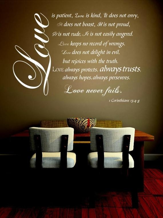 Love Is Patient Love Is Kind Wall Decal 1 Corinthians Bible With Love Is Patient Love Is Kind Wall Art (Image 16 of 20)