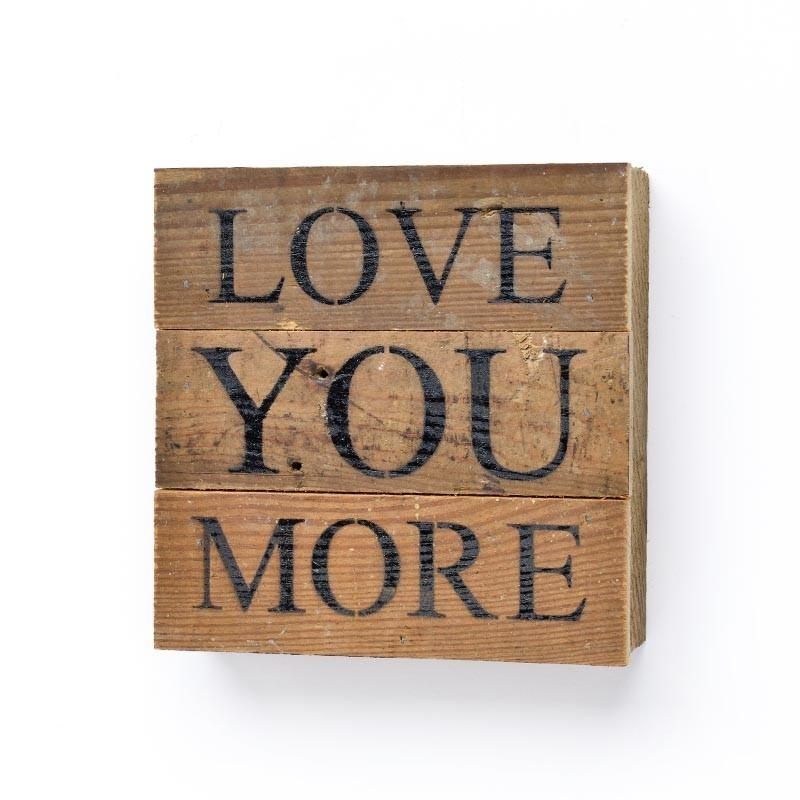 Love You More Wall Art | Linen And Boxwoods Intended For I Love You More Wall Art (Image 16 of 20)
