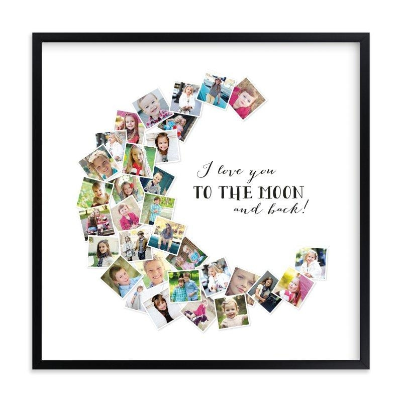 Love You To The Moon & Back! Wall Art Printschasity Smith | Minted Intended For Love You To The Moon And Back Wall Art (Image 15 of 20)