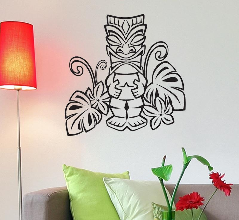 Lovely Ideas Hawaiian Wall Art Awesome Idea Vinyl Decal Wall Art Within Hawaiian Wall Art (Image 10 of 20)