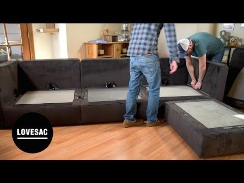 Lovesac Modular Furniture!! Assembly Tips, Tricks & Review! – Youtube Intended For Love Sac Sofas (Image 14 of 20)