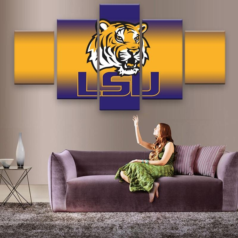 Lsu Wall Art Promotion Shop For Promotional Lsu Wall Art On Inside Lsu Wall Art (Image 14 of 20)
