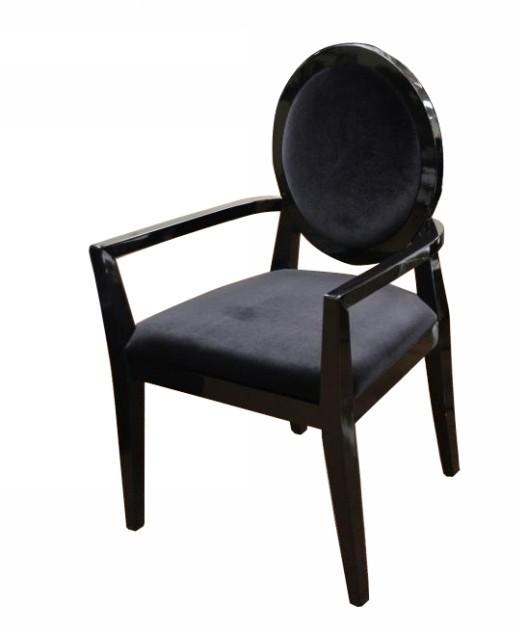 Lyle Transitional Black Fabric High Gloss Dining Chair With Regard To Latest Black High Gloss Dining Chairs (View 20 of 20)