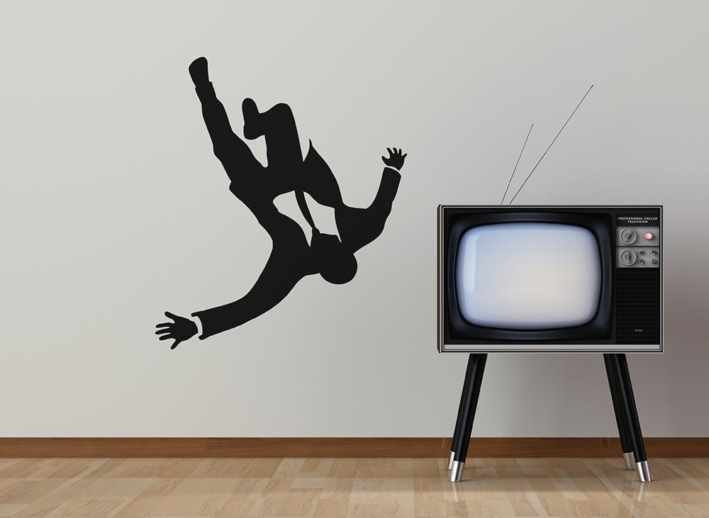 Mad Business Men Falling From The Sky Removable Vinyl Wall Inside Mad Men Wall Art (Image 6 of 20)