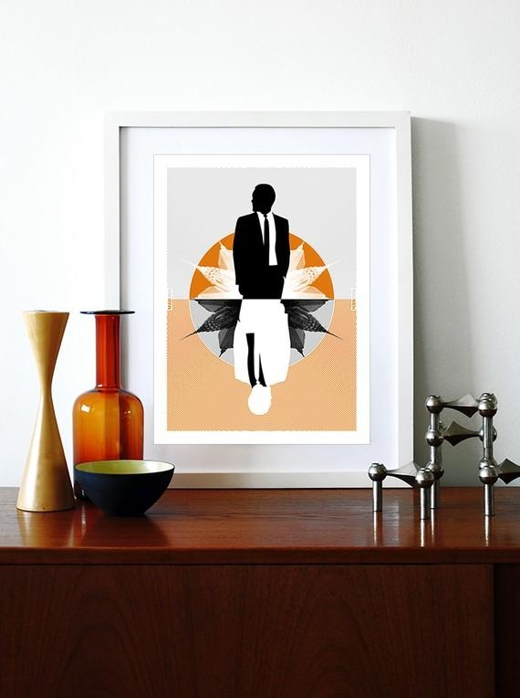 Mad Men Poster Print Mid Century Modern Eames Vintage Office Within Mad Men Wall Art (Image 11 of 20)