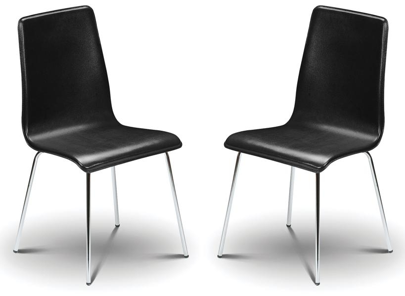 Madison Black Faux Leather & Chrome Dining Chairs Sale Now On Your Inside Most Popular Black Dining Chairs (View 7 of 20)