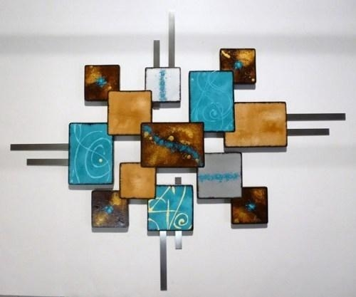 Featured Image of Turquoise Metal Wall Art