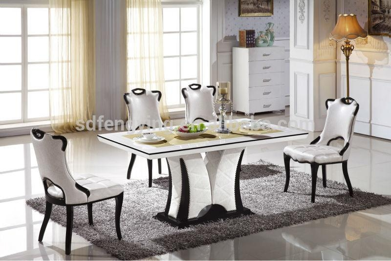 Magnificent Italian Dining Table Sets Italian Modern Marble Dining Intended For Marble Dining Tables Sets (View 14 of 20)
