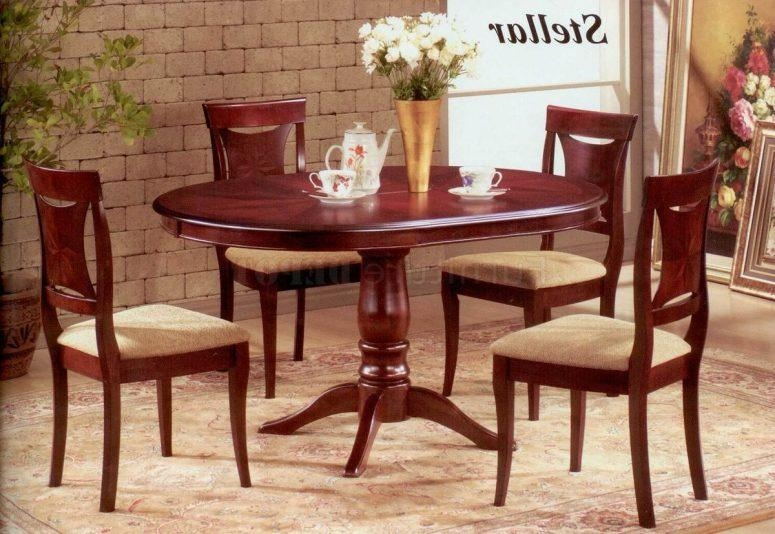 Mahogany Dining Room Set 1940 Awesome Carving Natural Varnished Intended For Current Mahogany Dining Tables And 4 Chairs (View 5 of 20)