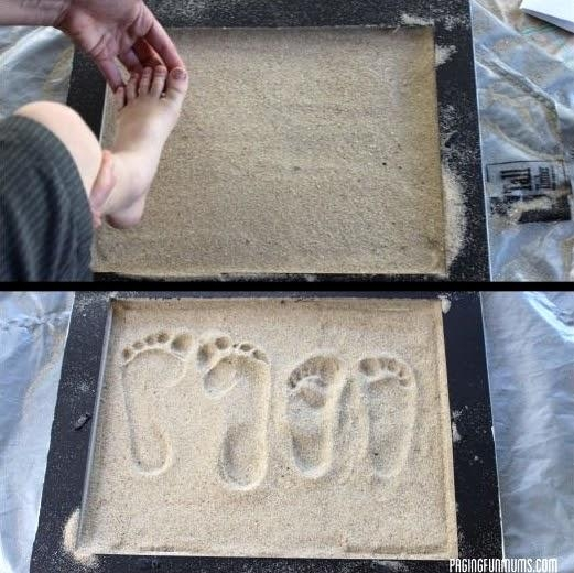 Make Footprints In The Sand Wall Art – Completely Coastal Intended For Footprints In The Sand Wall Art (View 12 of 20)