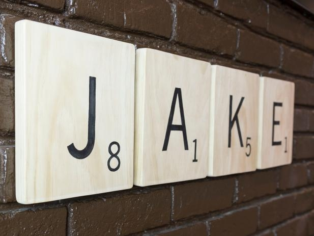 Make Scrabble Letter Wall Art | Hgtv Pertaining To Scrabble Letter Wall Art (View 16 of 20)