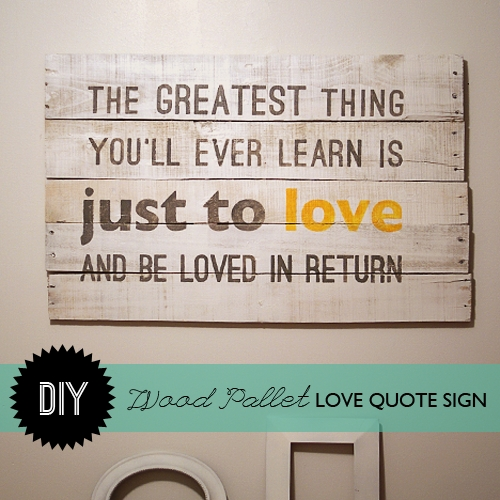 Make Wood Pallet Wall Art With Wooden Wall Art Quotes (Image 13 of 20)