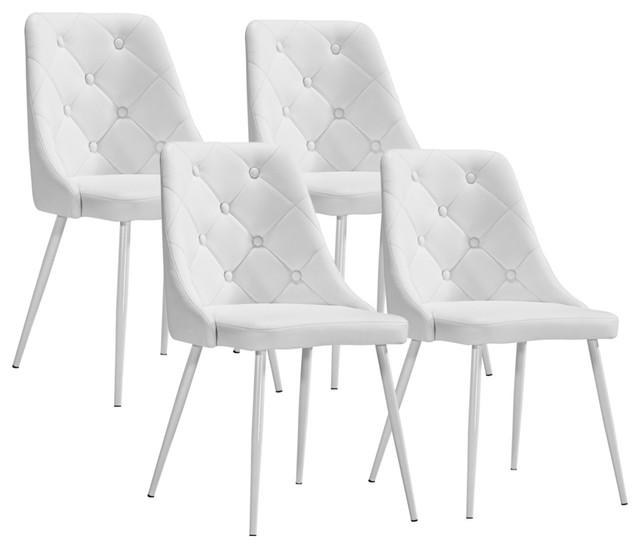 Make Your Choice In Perfect Designs Of White Dining Chairs Regarding Most Recent White Dining Chairs (Image 14 of 20)
