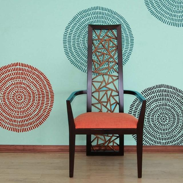 Maloca Wall Art Stencil, Tribal Wall Pattern Stencils Throughout Pattern Wall Art (Image 14 of 20)