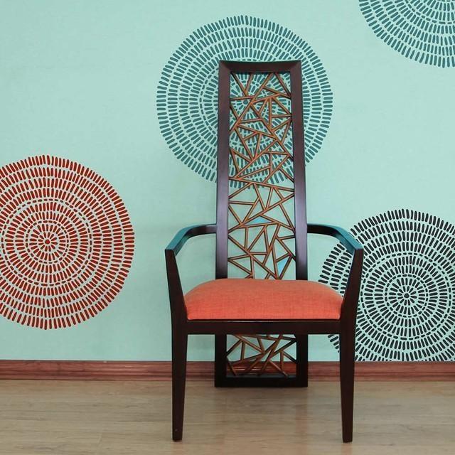 Maloca Wall Art Stencil, Tribal Wall Pattern Stencils Throughout Pattern Wall Art (View 4 of 20)