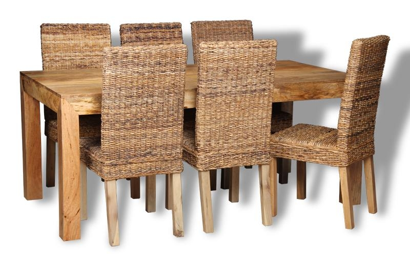 Mango 180Cm Dining Table & 6 Rattan Chairs | Trade Furniture Company™ Throughout Most Up To Date 180Cm Dining Tables (Image 12 of 20)
