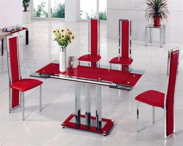 Mani Extending Glass Table, Dining Table And Chairs, Dining Sets For Most Current Glass Dining Tables With 6 Chairs (View 18 of 20)