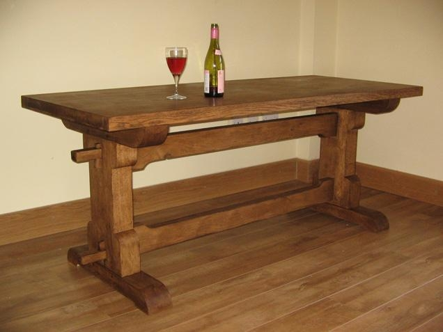 Manificent Design Rustic Oak Dining Table Clever Rustic Oak Dining In Most Current Rustic Oak Dining Tables (View 18 of 20)