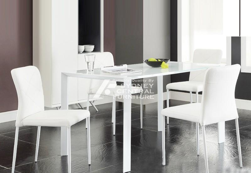 Mantra White Glass Top Dining Table – Sydney Central Furniture Regarding Newest White Dining Suites (Image 17 of 20)