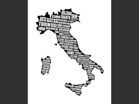 Map Of Italy Mapa Di Italia Italian Cities Italy Map For Italian Cities Wall Art (Image 16 of 20)