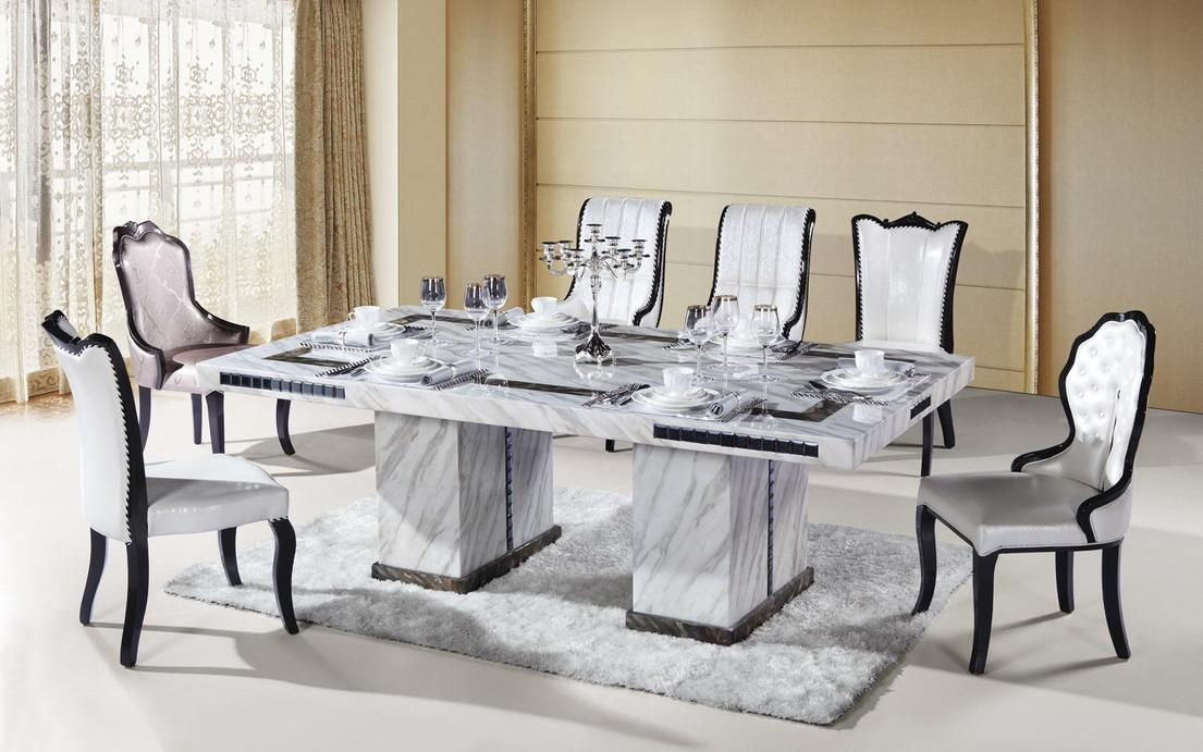 Marble Dining Furniture: Gives Exotic Look To Your Home Inside Extending Marble Dining Tables (View 16 of 20)