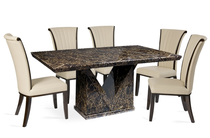 Marble Dining Set Archives – Thomas Brown Furnishings Pertaining To Newest Marble Effect Dining Tables And Chairs (Image 16 of 20)