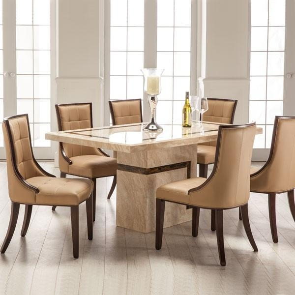 Marble Dining Table And 6 Chairs Regarding 2018 Dining Tables With 6 Chairs (Image 15 of 20)