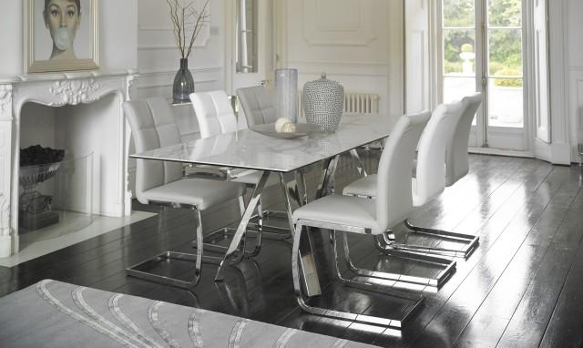 Marble Dining Table Set – Fishpools For Extending Marble Dining Tables (View 6 of 20)