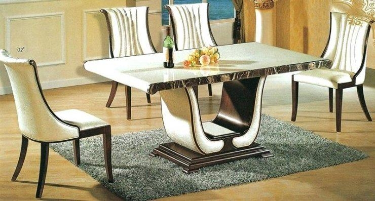 Marble Dining Tables And Chairs – Mitventures (Image 12 of 20)