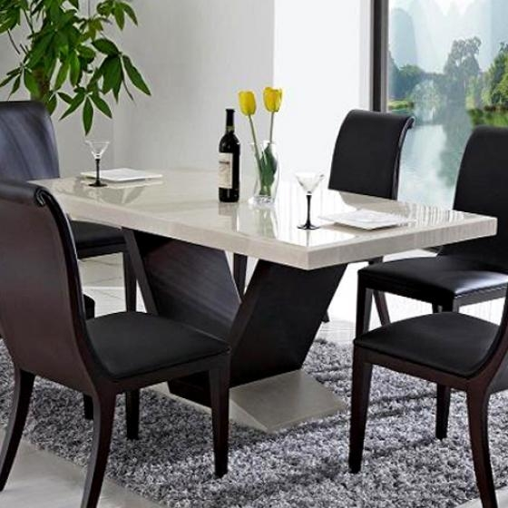 Marble Dining Tables Ideal As Dining Table Sets And Expandable With Marble Dining Tables Sets (View 12 of 20)