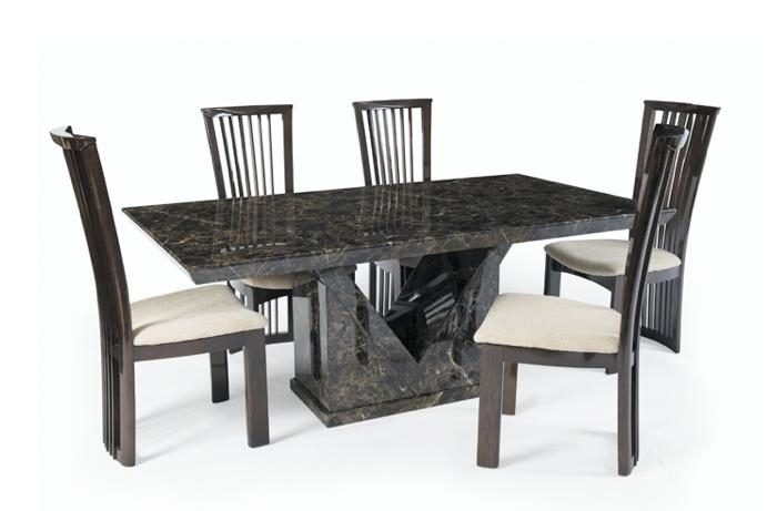 Marble Effect Dining Table And Chairs #6692 With Regard To 2018 Marble Effect Dining Tables And Chairs (Image 18 of 20)
