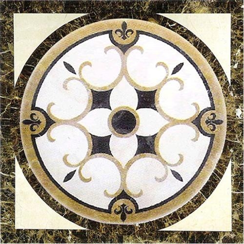 Marble Medallion Floor Wall Art Tile Square Pattern Ph Ws 5 [Ph Ws With Regard To Medallion Tiles Wall Art (Image 7 of 20)