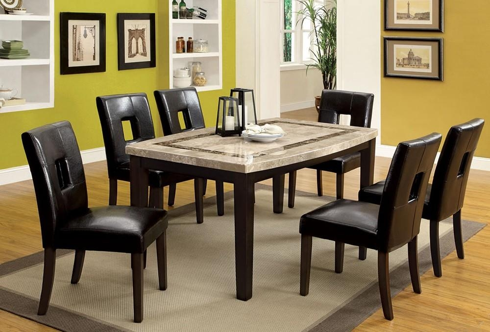 Marble Top Dining Table Set Throughout Most Popular Marble Dining Chairs (View 4 of 20)