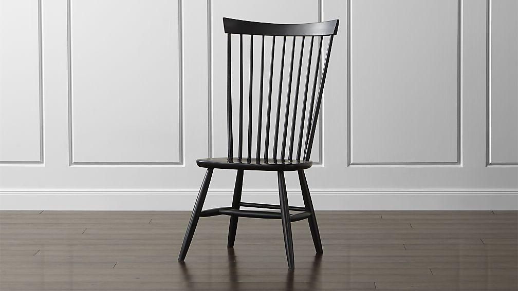 Marlow Ii Black Maple Dining Chair | Crate And Barrel Intended For Most Recent Black Dining Chairs (View 8 of 20)