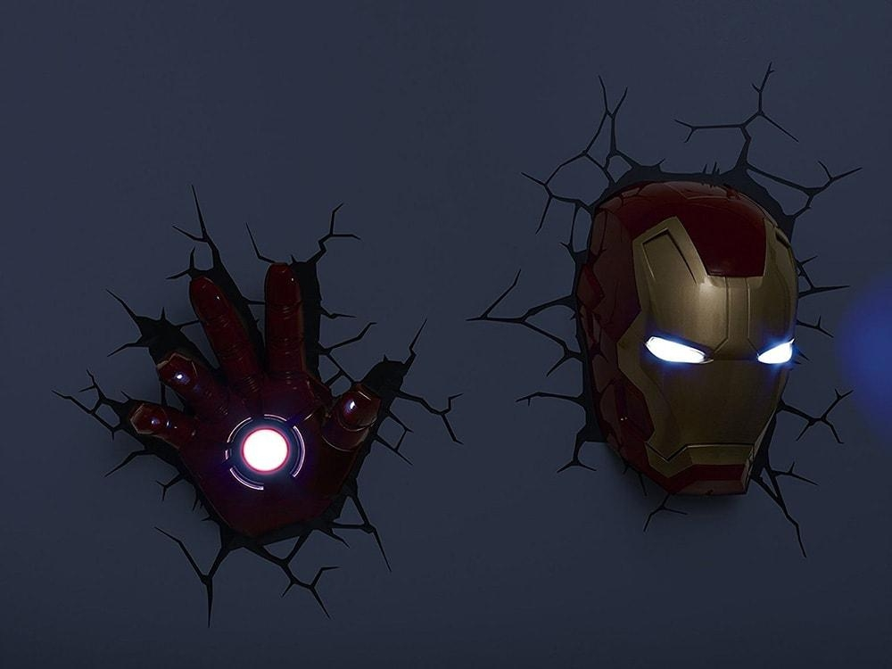 Marvel, Dc Heroes 3D Deco Led Wall Night Light: Iron Man, Captain With The Avengers 3D Wall Art Nightlight (View 12 of 20)