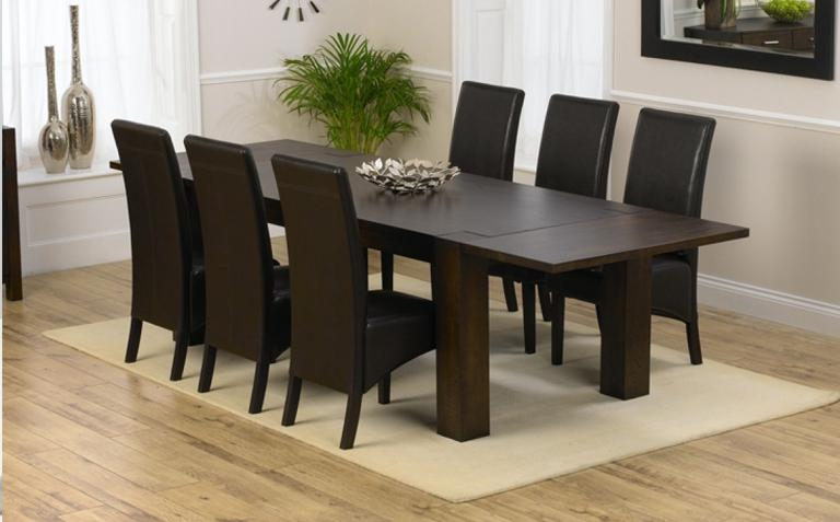 Marvellous Dark Wood Dining Table And 6 Chairs 82 On Dining Room Intended For Most Recent Dark Wood Dining Tables And Chairs (Image 16 of 20)